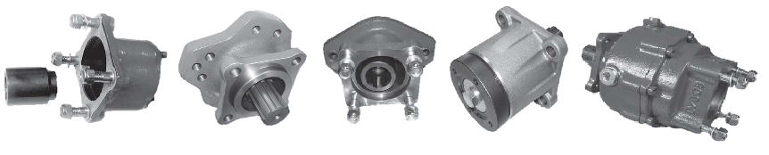 Pump mount adaptors hydraulic systems and components